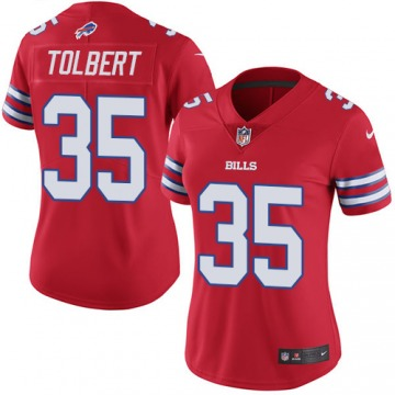 Women's Mike Tolbert Buffalo Bills Nike Limited Color Rush Jersey - Red